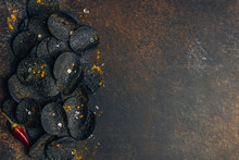 Black Potato Chips With Charcoal