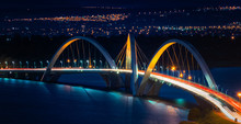 JK Bridge And The Paranoa Lake, Brasilia Brazil