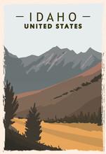 Idaho Retro Poster. USA Idaho ...