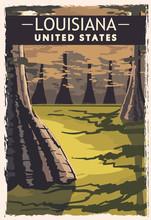 Louisiana Retro Poster. USA Lo...
