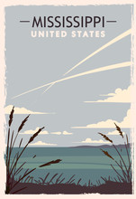 Mississippi Retro Poster. USA ...