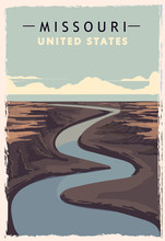 Missouri Retro Poster. USA Mis...