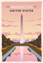 Washington Monument Retro Post...