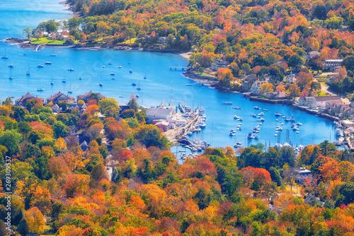 View from Mount Battie overlooking Camden harbor, Maine Canvas Print