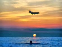 Watercolor. Seascape Sea. The ...