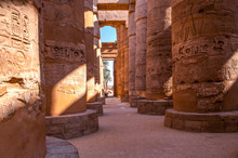 Famous Karnak Temple Complex Of Amon Ra In Luxor