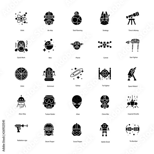 Photo  Star War Solid Icons Pack