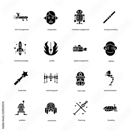Photo  Star War Filled Icons Pack