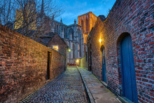 Small Cobbled Alleyway In York...
