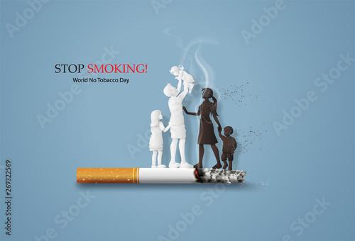 Cuadros en Lienzo no smoking and World No Tobacco Day
