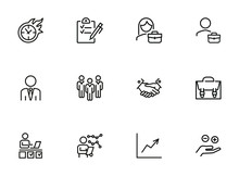 Business Consulting Line Icon ...