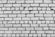 A white brick wall background texture block