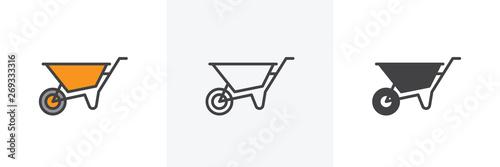 Photo Wheelbarrow cart icon