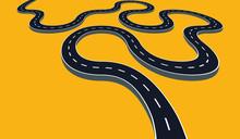 Winding Road Vector Illustration Isolated. Transportation Concept Design