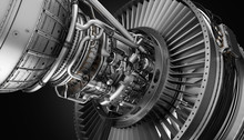 Part Of Real Airplane Turbine,...