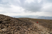 Lone Trail Runner Descending S...