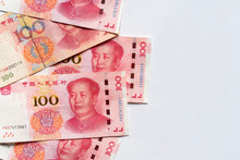 Top View Of 100 Yuan Chinese B...