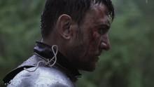 Warrior In Metal Armor Is Stan...
