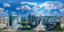 Downtown Miami 360 Aerial Panorama