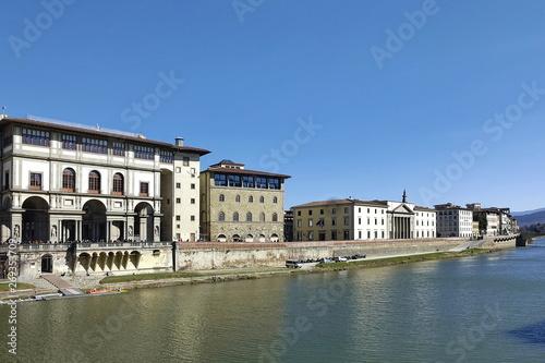 Foto auf AluDibond Stadt am Wasser Lungarno, Florence, Italy