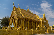 """Golden Church"", Pak Nam Chalo Temple, Chachoengsao, Thailand"