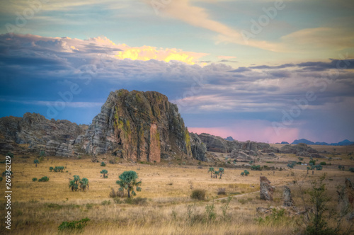 Abstract Rock formation near stone window at Isalo national park, Madagascar