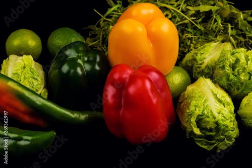 Keuken foto achterwand Groenten Composition with assorted raw organic vegetables