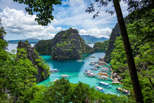 Kayangan Lake In Coron Island, Palawan, Philippines.
