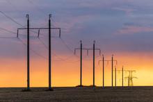 Epic Sunset With Rural Landsca...