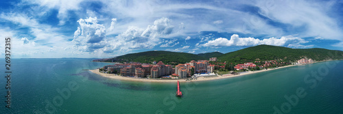 Poster de jardin Cote Panoramic view to sea resort Elenite on the Bulgarian Black Sea coast