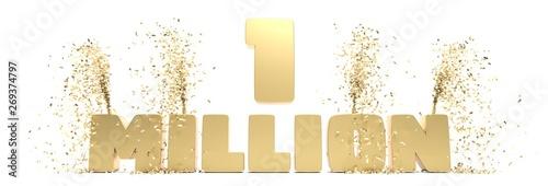fêter 1 million d'abonnés Billede på lærred
