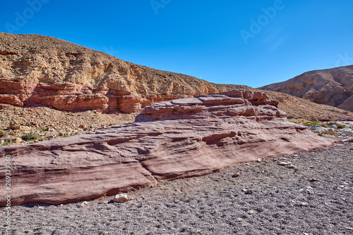 Israel. The neighborhood of Eilat. Sculptures of the Red Canyon