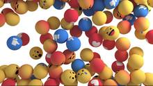 Facebook Reactions Emoji 3d Re...