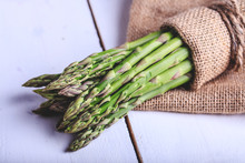 A Handful Of Green Asparagus