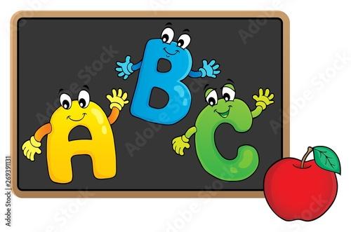 Fotobehang Voor kinderen Schoolboard topic image 7