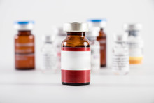 Botox Medicine Bottle On A White Background