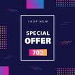 Sale discount background. Promotional banner.