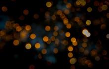 Bokeh Glow In The Colorful Night