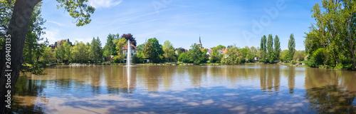 Foto auf Leinwand Landschaft cloister lake in Sindelfingen Germany