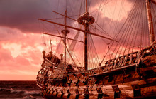 Re-production Of A Galleon In ...