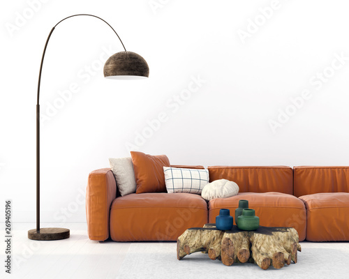 Fashionable Living Room Interior With A