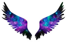 Spreaded Wings Made Os Stars And Cosmoc, Freedom And Eternity