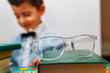 glasses and boy. The concept of education