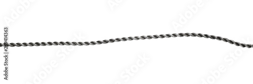 Foto Steel, metal hawser, cord isolated on white background
