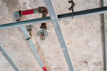 Old Style Fire Sprinkler Is Ready To Replace