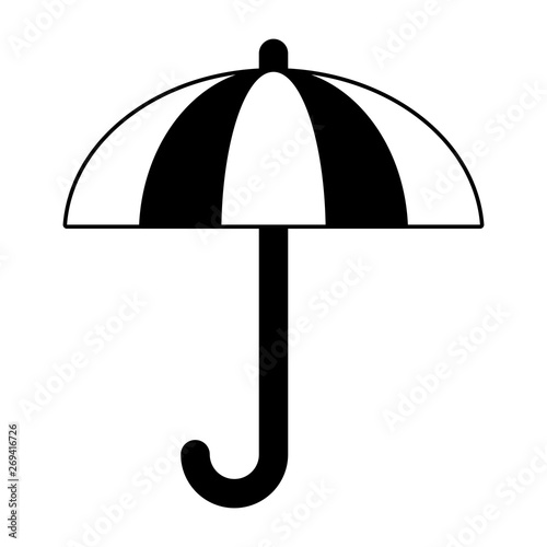 Umbrella Weather Symbol Isolated Cartoon In Black And White Buy