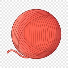 Yarn Ball Toy For Cat Icon. Ca...