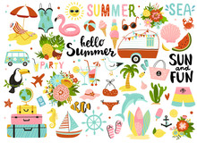 Set Of Cute Summer Elements: S...