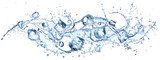 Ice Cubes In Splashing - Cold And Refreshment