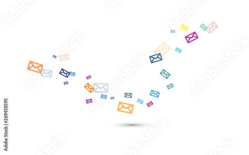 Obraz messaggio, sms, messaggi, buste, posta, busta, posta  - fototapety do salonu